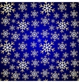 Seamless Pattern Blue Background with Snowflakes vector image