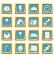 sweets and candies icons azure vector image