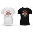 Basketball logo on u-neck t-shirt Ball and basket vector image