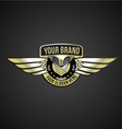 chrome wing logo vector image vector image