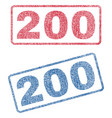 200 textile stamps vector image