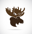 images of moose deer head vector image