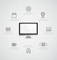 Monitor Information vector image vector image