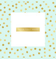 background with gold dots pattern vector image