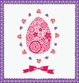 floral ornamental easter post card vector image