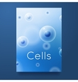 group of cells with text vector image