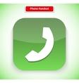 Phone Handset App Icon Flat Style Design vector image