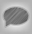 speech bubble icon pencil sketch vector image