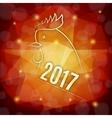 Symbol of 2017 year vector image