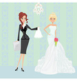 wedding planner and bride vector image