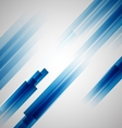 Abstract blue background with straight lines vector image vector image