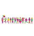 people line vector image