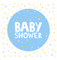 baby shower invitation cards template vector image