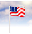 united states of america flag on blue sky vector image