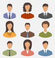 avatar set front portrait office employee business vector image