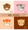 Four simple cartoon images head of animals vector image