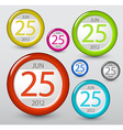 calendar element for your web vector image