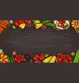 cartoon of various vegetables vector image