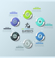 creative infographic design layout round diagram vector image