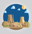 Flat design western desert vector image