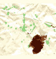green and brown watercolor stains on crumpled vector image