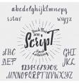 Hand drawn font handwriting brush vector image