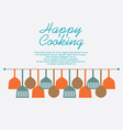 Happy Cooking Concept vector image