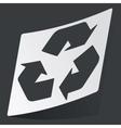 Monochrome recycle sticker vector image