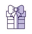 shadow cute purple gift cartoon vector image
