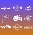 Summer symbols set vector image