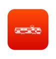 tram icon digital red vector image