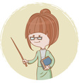Cute woman teacher vector image
