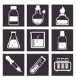 laboratory tools tube icons design vector image