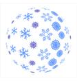 Snowflakes in sphere vector image vector image