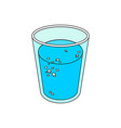 glass of mineral water vector image
