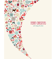 Merry Christmas vintage elements composition vector image vector image