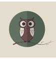Cute lowlet on the branch vector image