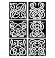 Celtic snakes knot patterns with tribal ornament vector image