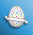 polka dot easter egg background 0703 vector image