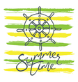 summer time helm and stripes green yellow vector image