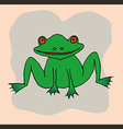 A drawing of a frog vector image