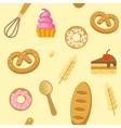 Bakery Flat Seamless Pattern vector image