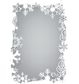 Christmas snowflakes grunge frame vector image