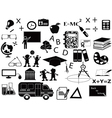 education black icon set vector image