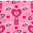 Lovers n balloon seamless pattern Valentine s vector image