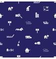 real estate blue pattern eps10 vector image