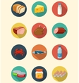Set of food and products icons Flat design icons vector image