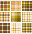 set of plaid seamless pattern for fall season vector image