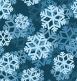 Snowflake seamless pattern Volumetric snowfall vector image