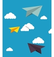 human resources plane paper design isolated vector image